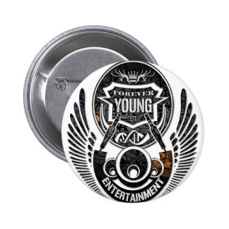 Forever Young Music 2 Inch Round Button