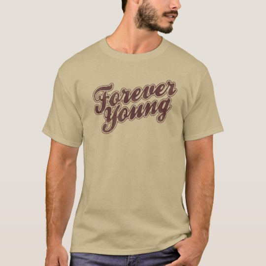 Forever Young Retro Graphic Pop Culture T-Shirt