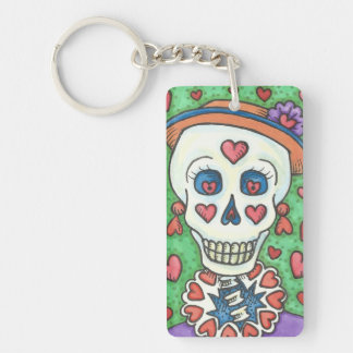 FOREVER YOURS LADY SKELETON KEYCHAIN Customize