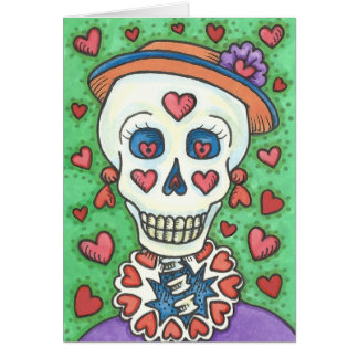 FOREVER YOURS LADY SKELETON NOTE CARD Blank