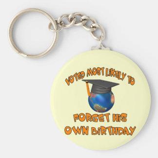 Forget His Birthday Basic Round Button Keychain