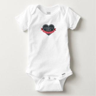 Forget it girls Mom is my Valentine Baby Onesie