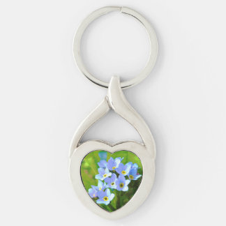 Forget ME emergency Silver-Colored Twisted Heart Keychain