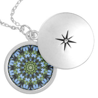 Forget Me Not 01 01.2, Forgetmenot, Nature Mandala Locket Necklace