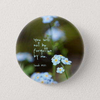 Forget-me-not 2 Inch Round Button