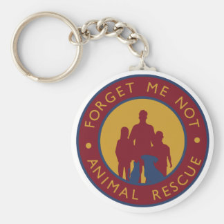 Forget Me Not Animal Rescue Keychain