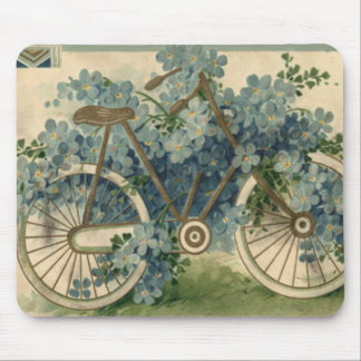 Forget Me Not Bicycle Birthday Mousepad