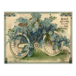 Forget Me Not Bicycle Birthday Postcard