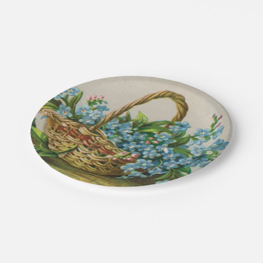 Forget-Me-Not Blossoms Picnic Paper Plate 7 Inch Paper Plate