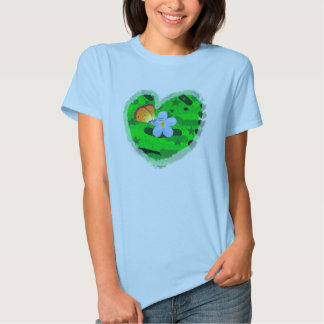 forget me not butterfly heart ladies baby doll t s tees