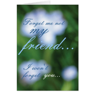 Forget Me Not... Card