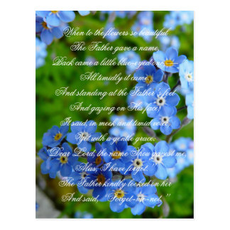 Forget-me-not Cute Christian Nursery Rhyme Floral Postcard