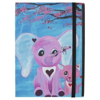 Forget Me Not Cute Elephant Cat Cherry Blossom Art