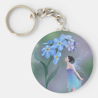 Forget-Me-Not Fairy Keychain
