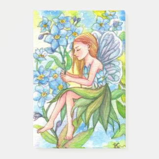 Forget-Me-Not Fairy Post-it Notes