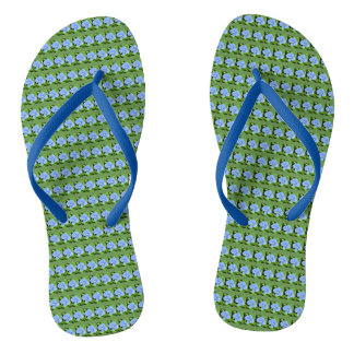 Forget Me Not Flip Flops