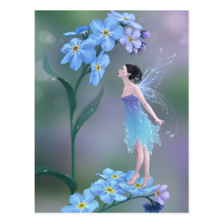 Forget-Me-Not Flower Fairy Art Postcard