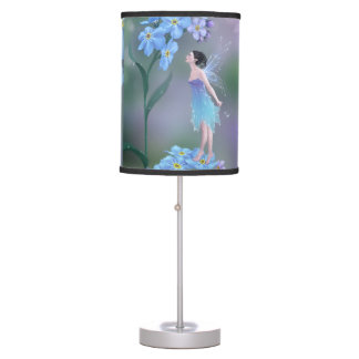 Forget Me Not Flower Fairy Table Lamp