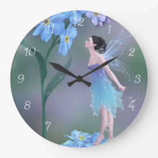 Forget-Me-Not Flower Fairy Wall Clock