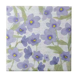 forget-me-not flowers pattern ceramic tiles