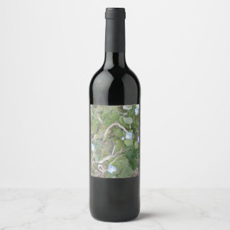 Forget Me Not Flowers Wine Label