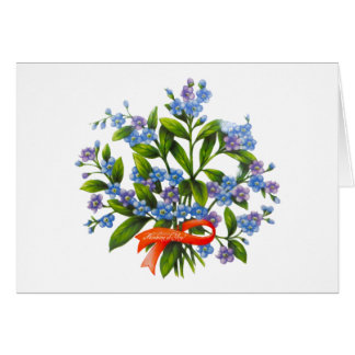 Forget-me-not for Greeting card