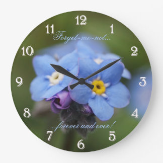 Forget-me-not forever and ever Wall Clock