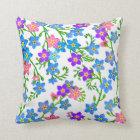 Forget Me Not Garden Flowers Pillow