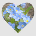 Forget Me Not Heart Sticker