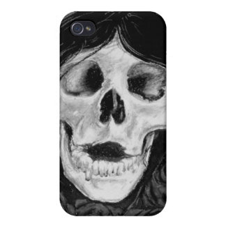 Forget me not in Black & grey iPhone 4/4S Case