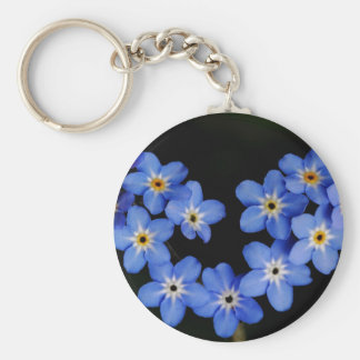 Forget me not keychain