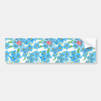 Forget me not seamless floral pattern bumper sticker