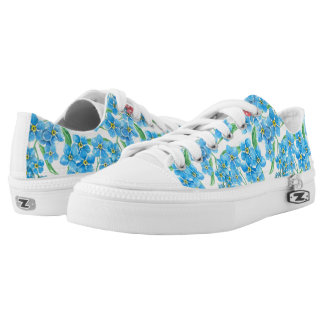 Forget me not seamless floral pattern Low-Top sneakers