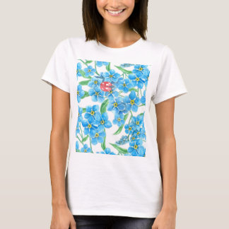 Forget me not seamless floral pattern T-Shirt
