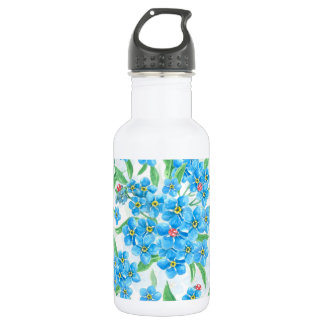 Forget me not seamless pattern 532 ml water bottle