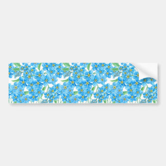 Forget me not seamless pattern bumper sticker