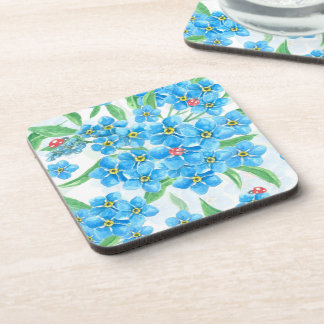 Forget me not seamless pattern coaster