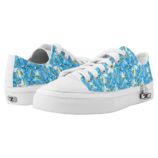 Forget me not seamless pattern Low-Top sneakers