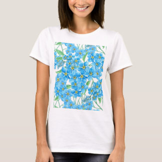 Forget me not seamless pattern T-Shirt