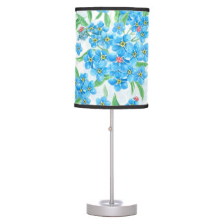 Forget me not seamless pattern table lamp
