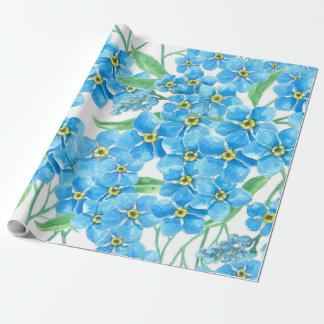 Forget me not seamless pattern wrapping paper