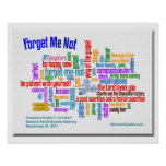 Forget Me Not Talk by President Uchtdorf poster
