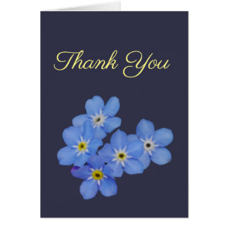 Forget Me Not Thank You Card