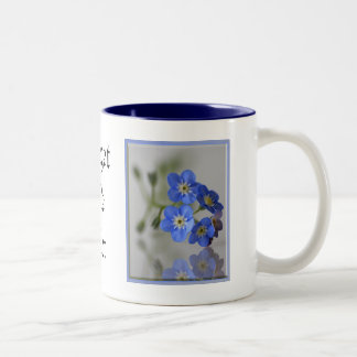 Forget Me Not Two-Tone Coffee Mug