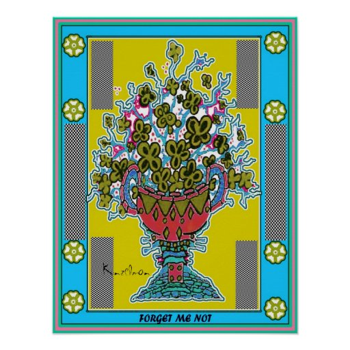 """FORGET ME NOT"" URN GICLEE PRINT"