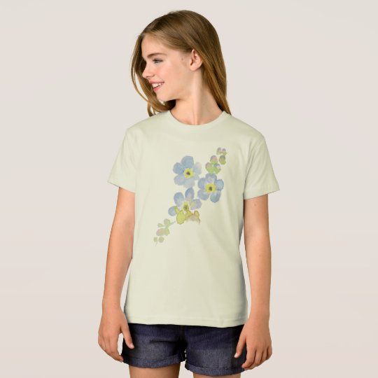 Forget Me Not Water Colour Painting T-Shirt