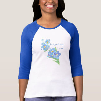 Forget me not, Watercolor Garden Flower T-Shirt