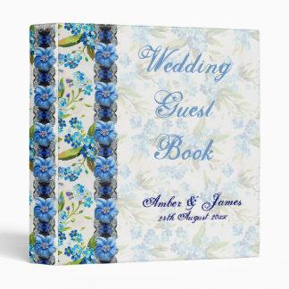Forget Me Not Wedding Guest Book Vinyl Binder