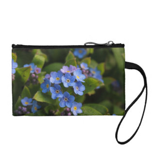forget-me-not with dew macro coin purse