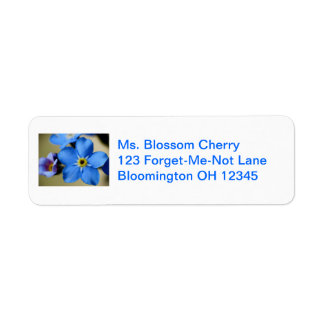 Forget-Me-Nots 11 Address Label